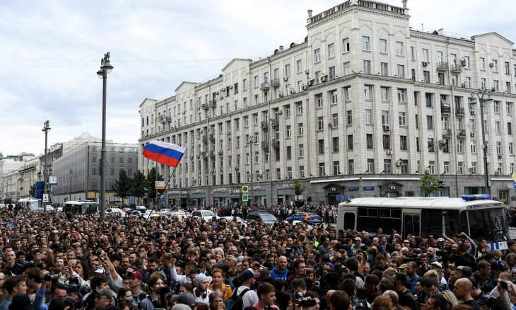اعتقال العشرات في موسكو خلال مسيرة للمطالبة بمشاركة المعارضة في الانتخابات البرلمانية