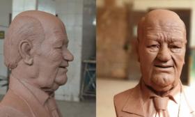تمثال للفنان حسن حسني يغزو مواقع التواصل الاجتماعي – (تغريدة)