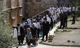 يهود متدينون يقتحمون المسجد الأقصى ويحتفلون بعيد العرش