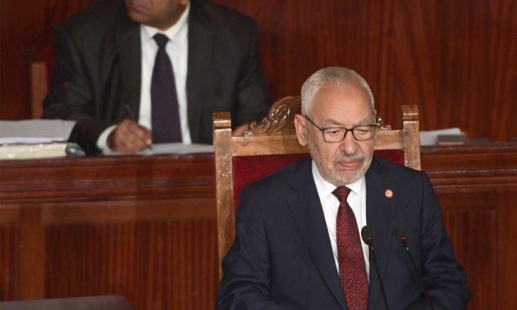 انتخاب زعيم حزب النهصة راشد الغنوشي رئيسا للبرلمان في تونس
