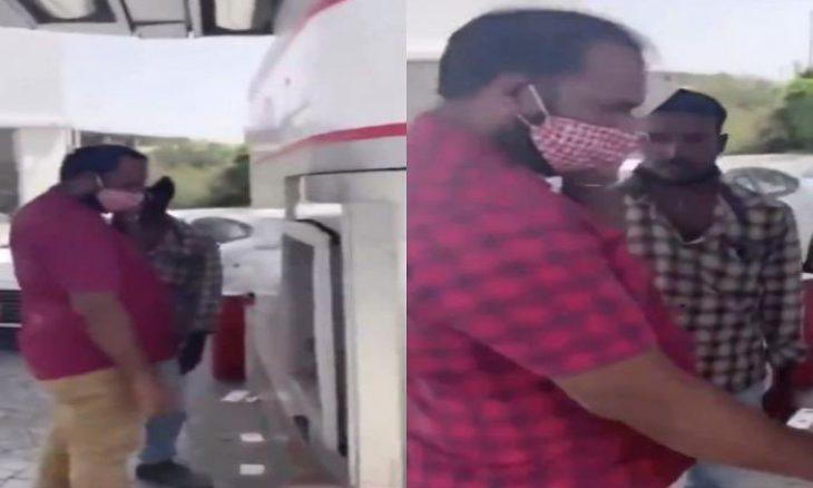 """السعودية: اعتداء عنصري ضد بنغالي بسبب """"كمامة على هيئة شماغ""""! – (تغريدات وفيديو)"""