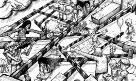 الحواجز الاسرائيلية وتقسيم الارض