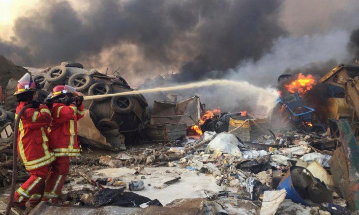 إسرائيل تنفي أي علاقة بانفجار بيروت