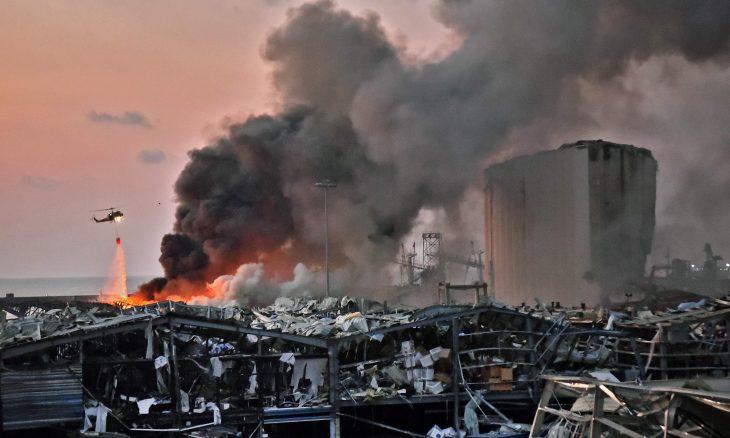انفجار ضخم يهز بيروت ويخلف دمارا هائلا وعشرات القتلى وآلاف الجرحى- (صور وفيديوهات)