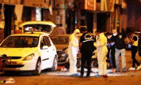 لحظة التفجير الانتحاري في إقليم هاتاي جنوبي تركيا