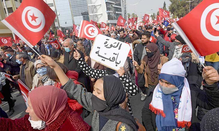 تونس، راشد الغنوشي، قيس سعيّد، محمد كريشان، هشام مشيشي، حربوشة نيوز
