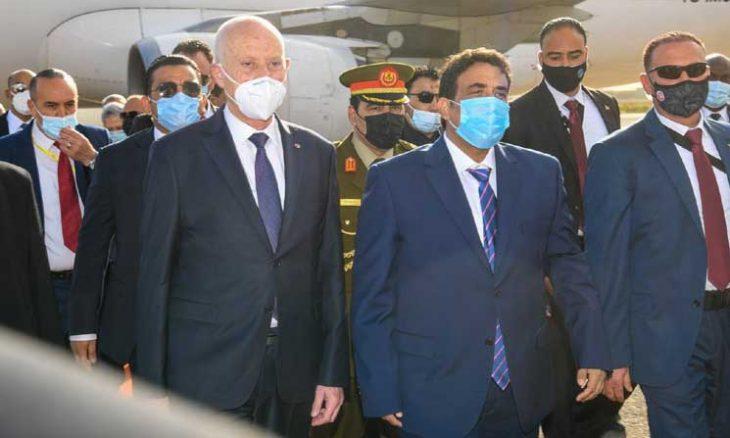 تونس، ليبيا، عبد الحميد الدبيبة،  الرئيس التونسي قيس سعيد ، الرئيس التونسي السابق المنصف المرزوقي ، حربوشة نيوز