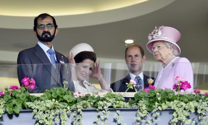 ملكة بريطانيا إليزابيث الثانية،   حاكم إمارة دبي،  الشيخ محمد بن راشد آل مكتوم، الأميرة هيا بنت الحسين، الشيخة لطيفة ، حربوشة نيوز