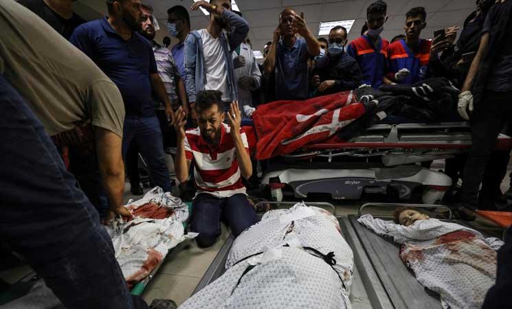 10 членов палестинской семьи убиты в результате сионистской бомбардировки Газы - ФОТО