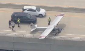 طائرة تهبط اضطراريا على  جسر في ولاية أمريكية- (شاهد)