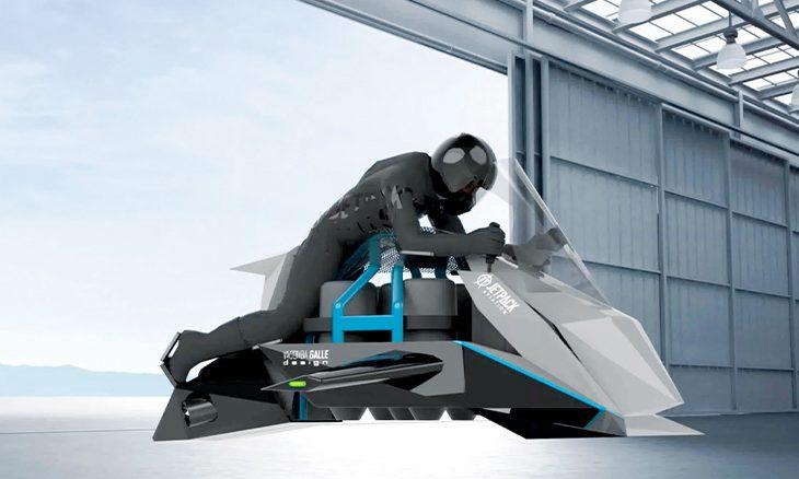 أحدث صيحات الطيران: دراجة نارية تحلق في الجو بسرعة 480 كلم في الساعة
