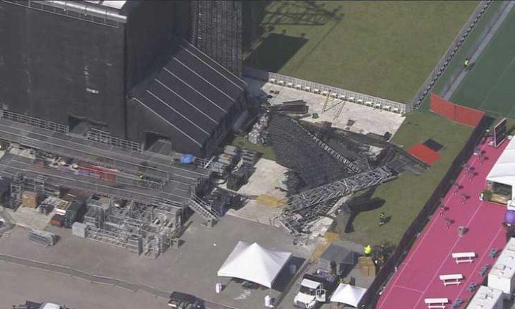 انهيار شاشة عملاقة قبيل انطلاق مهرجان الموسيقى في فلوريدا- (شاهد)