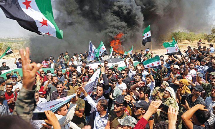 حلف النظام السوري يصعد في إدلب ويقصف جبل الزاوية
