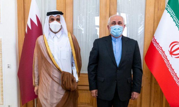 الرئيس الإيراني المنتخب يستقبل وزير الخارجية القطري في طهران بعد زيارته واشنطن- (تغريدة)