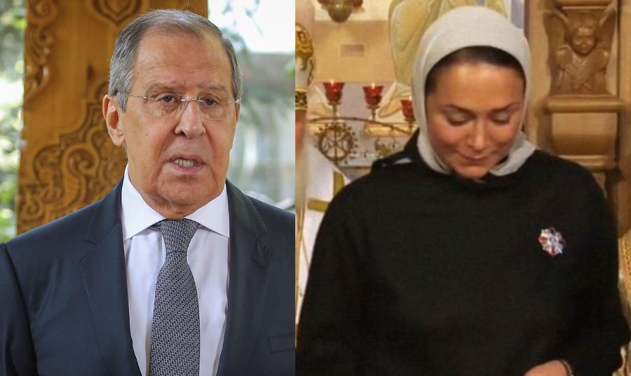 ظهور عشيقة سرية لوزير الخارجية الروسي: من شابه رئيسه ما ظلم! من يخن زوجته ألا يخون وطنه؟