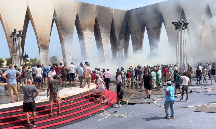 Egypt.. 14 suffocated in a limited fire inside a film festival hall - (Tweet)
